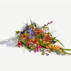 Funeral Spray with ribbon - a colorful farewell